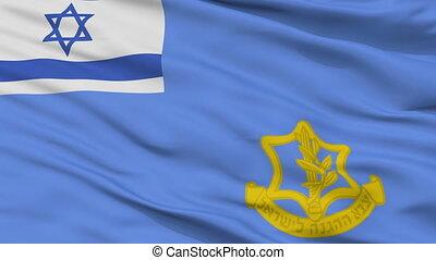 Israel Defense Forces Flag Closeup Seamless Loop - Israel...