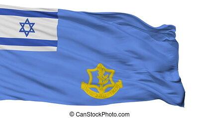 Israel Defense Forces Flag Isolated Seamless Loop - Israel...