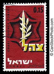 israel, defesa, emblema, forças