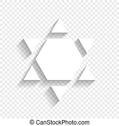 israel, estrella, protector, magen, símbolo, david, fondo., inverted., inverse., vector., sombra, suave, blanco, transparente, icono