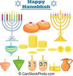 Israel festival object and symbol in vector
