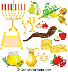 Israel Festival Object - easy to edit vector illustration of...