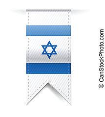 israel flag banner illustration