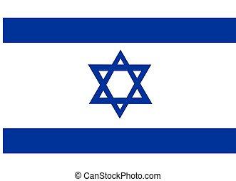Israel Flag - 2D illustration of the flag of Israel vector