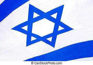 Close up of Israel national flag.