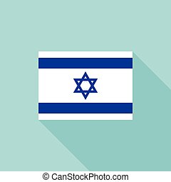 Israel flag , flat design vector with official proportion
