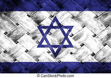 Israel flag , Israel flag on Weave Bamboo