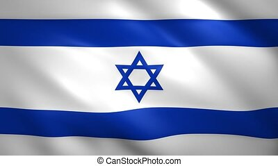 Israel flag moves in the wind