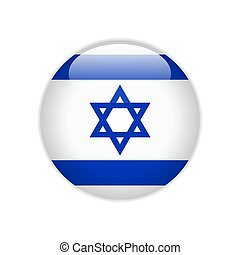 Israel flag on button