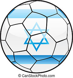 Israel flag on soccer ball