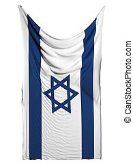 Israel flag on white background