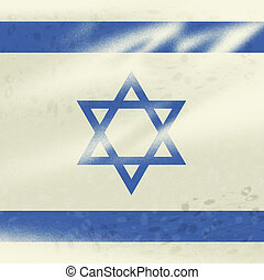 Israel Flag Showing Middle East And Jewish