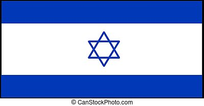 Israel flag vector illustration isolated on background