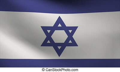 israel flag waving gently in wind