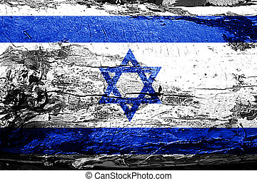 Israel flag with grunge texture
