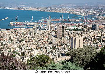 israel, haifa, -, ciudad