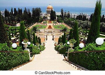 israel, haifa, viaje, santuarios, -, bahai, fotos