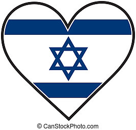 Israel Heart Flag - An Israeli flag shaped like a heart