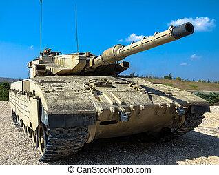 israel, hecho, tanque, merkava, mk, iii