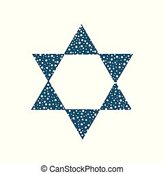 Israel Independence Day holiday flat design icon star of david shape with dots pattern