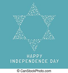 Israel Independence Day holiday flat design white thin line ...