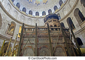 Israel. Jerusalem. Church of the Holy Sepulchre. The Tomb of...