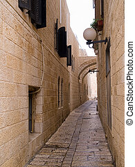 Israel - Jerusalem Old City Alley Jewish quarter