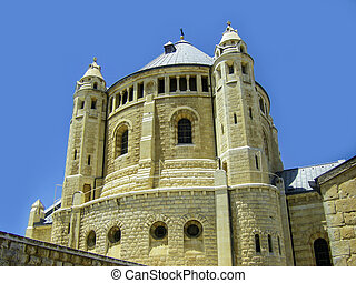 Israel. Jerusalem. Old city. The south wall. Dormition Monastery on Mount Zion