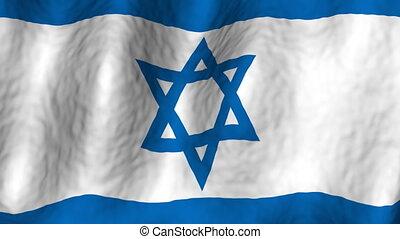 Israel looping flag