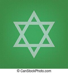 israel., magen, symbol, star., david, gre, weißes, ikone, schutzschirm