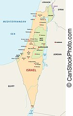 Israel map - Israel vector map