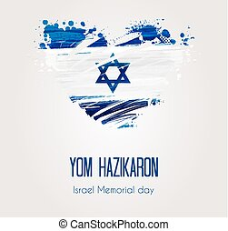 Israel Memorial day background - Holiday background with...