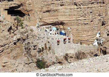 israel, monasterio, s. george, judea, desierto