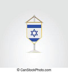 israel., nationale, illustratie, symbolen, middelbare , countries., oosten