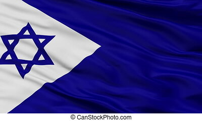 Israel Naval Ensign Flag Closeup Seamless Loop - Naval ...