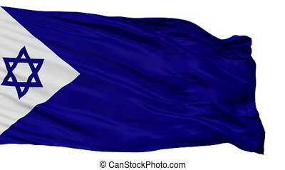 Israel Naval Ensign Flag Isolated Seamless Loop - Naval ...