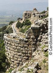 israel, nimrod, festung