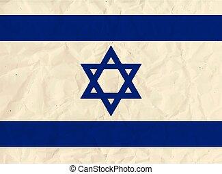 Israel paper  flag
