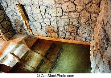 israel, qumran, viagem, -, fotografias, cavernas