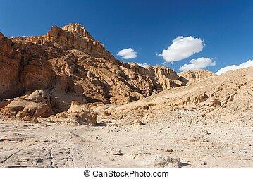 israel, rochoso, parque, nacional, timna, paisagem deserto
