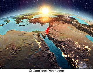 israel, salida del sol, espacio