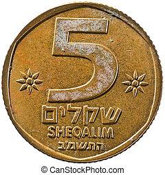 Israel Sheqalim Coin, 5 Sheqalim