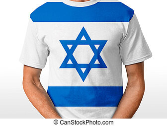 Israel t-shirt isolated on white