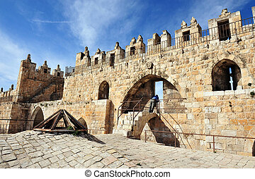 Israel Travel Photos - Jerusalem - Damascus Nablus Gate in...