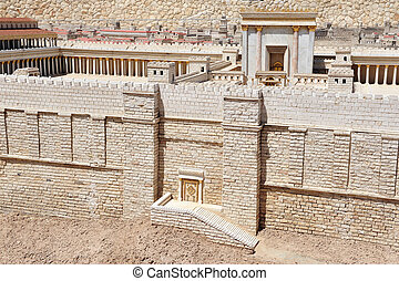 Israel Travel Photos - Jerusalem - Model of the Jewish...