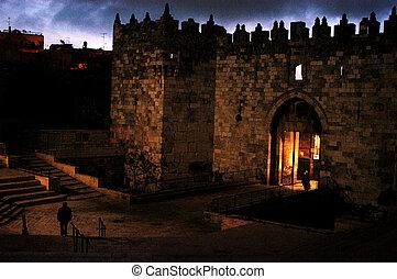 Israel Travel Photos - Jerusalem - Damascus Nablus Gate in...