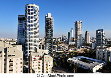 Israel Travel Photos - Tel Aviv - Aerial view of apartment...
