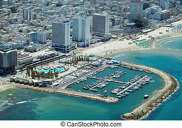 Israel Travel Photos - Tel Aviv - Aerial view of Tel-Aviv...