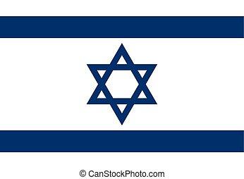 Israel vector flag