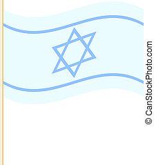 israel, vektor, fahne, abbildung